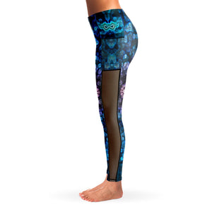 SEA ANEMONE PREMIUM MESH POCKET YOGA LEGGINGS