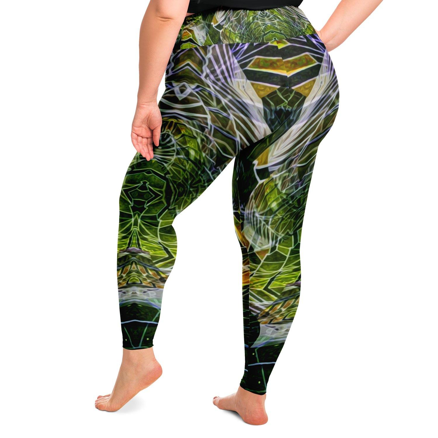 Cosmic Slither Premium Plus Size Yoga Leggings - Manifestie