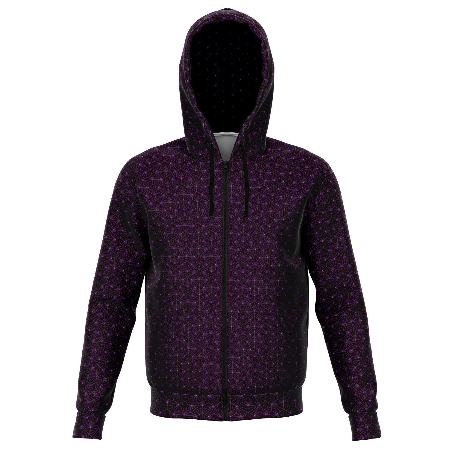 AMETHYST SACRED CONNECTIONS PREMIUM ZIP UP HOODIE