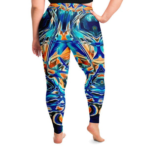 Blue Gaze Premium Plus Size Yoga Leggings