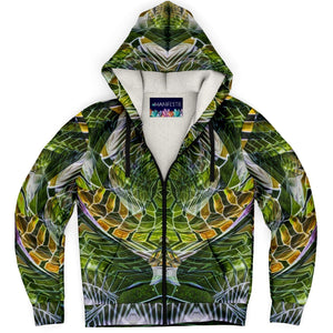 Cosmic Slither Premium Sherpa Lined Zip Hoodie