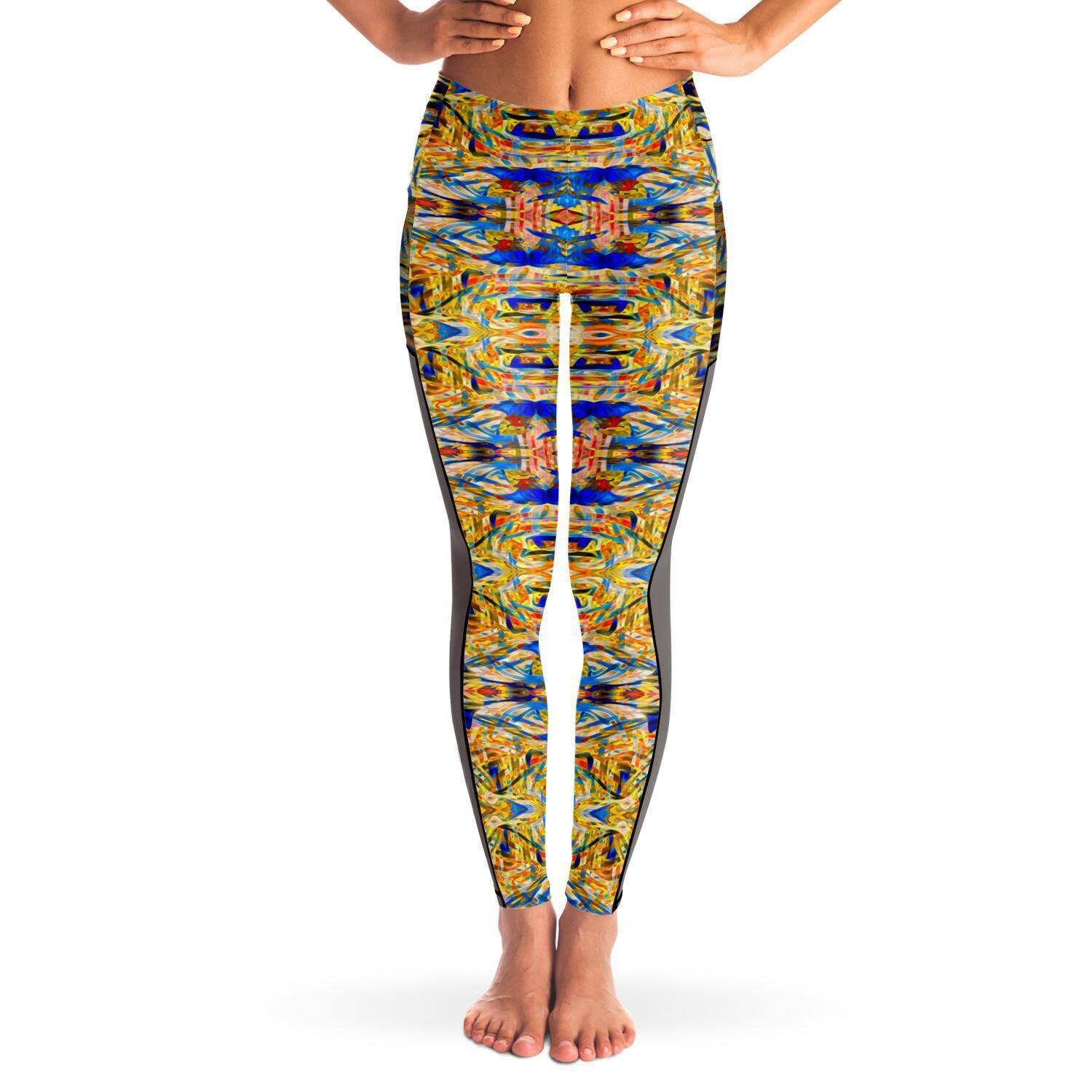 STAR CHASER PREMIUM MESH POCKET YOGA LEGGINGS