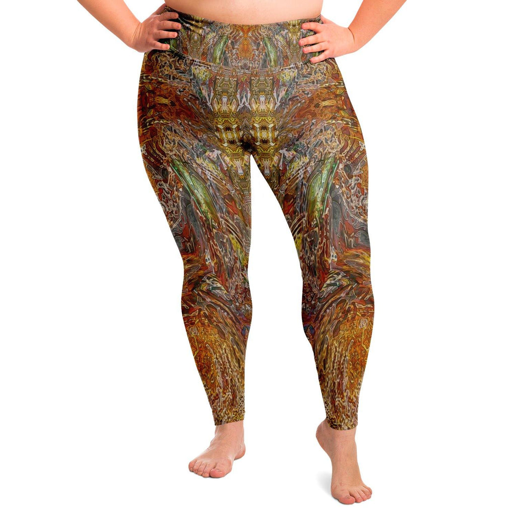 Golden Amber Premium Plus Size Yoga Leggings