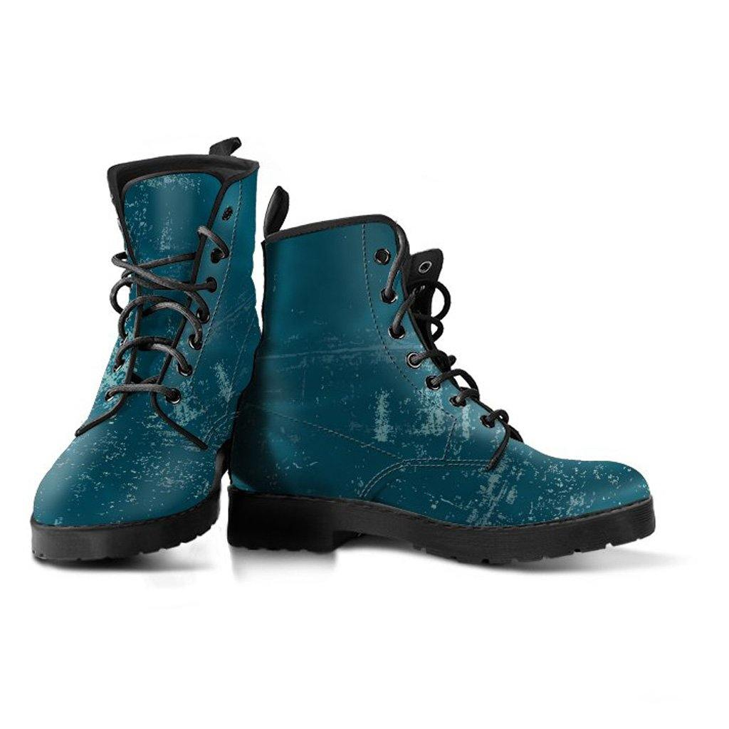 Dark Teal Vegan Leather Boots