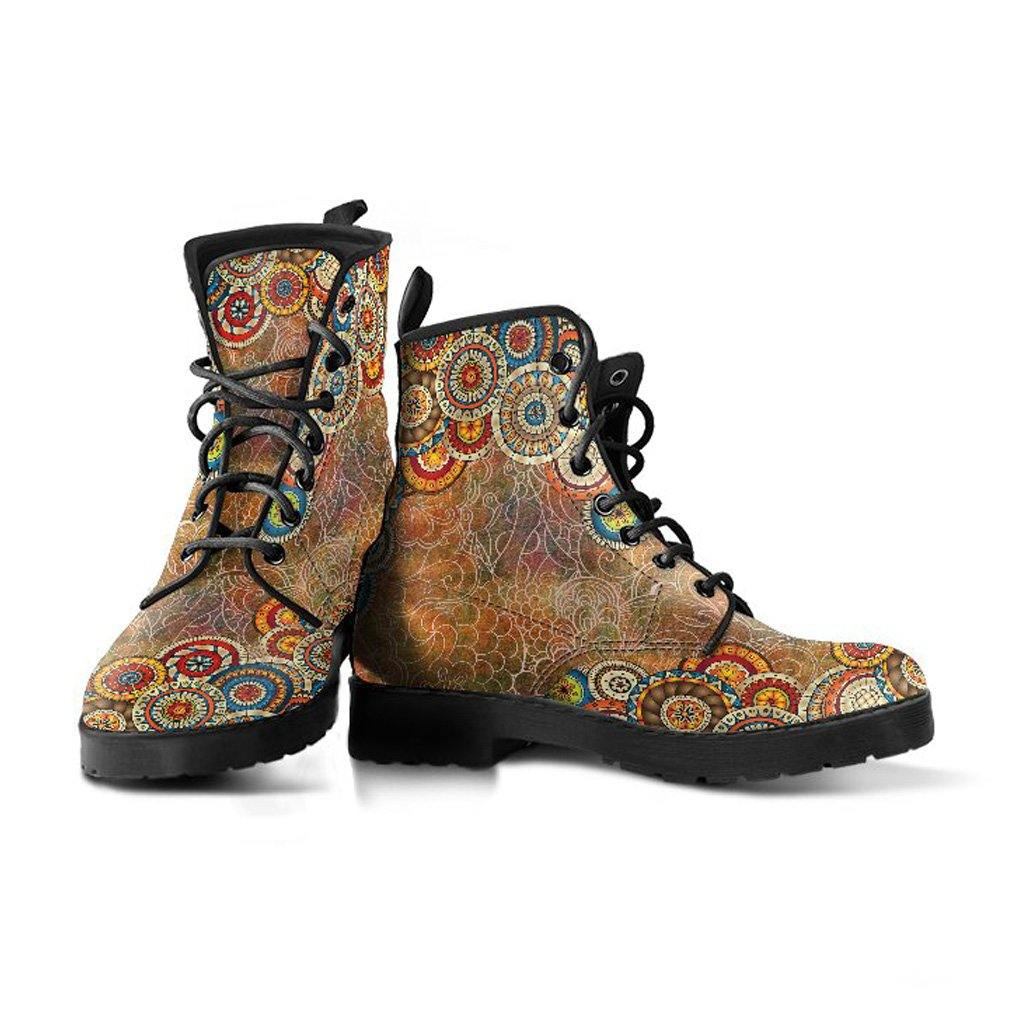 Mandala Oxford Vegan Leather Boots - Manifestie