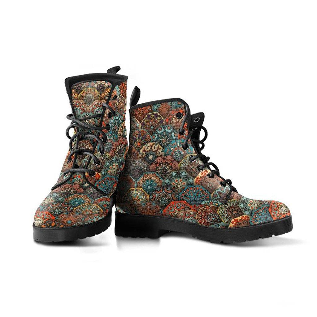Mandalas Vegan Leather Boots