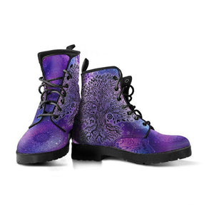 Purple Tree of Life Vegan Leather Boots