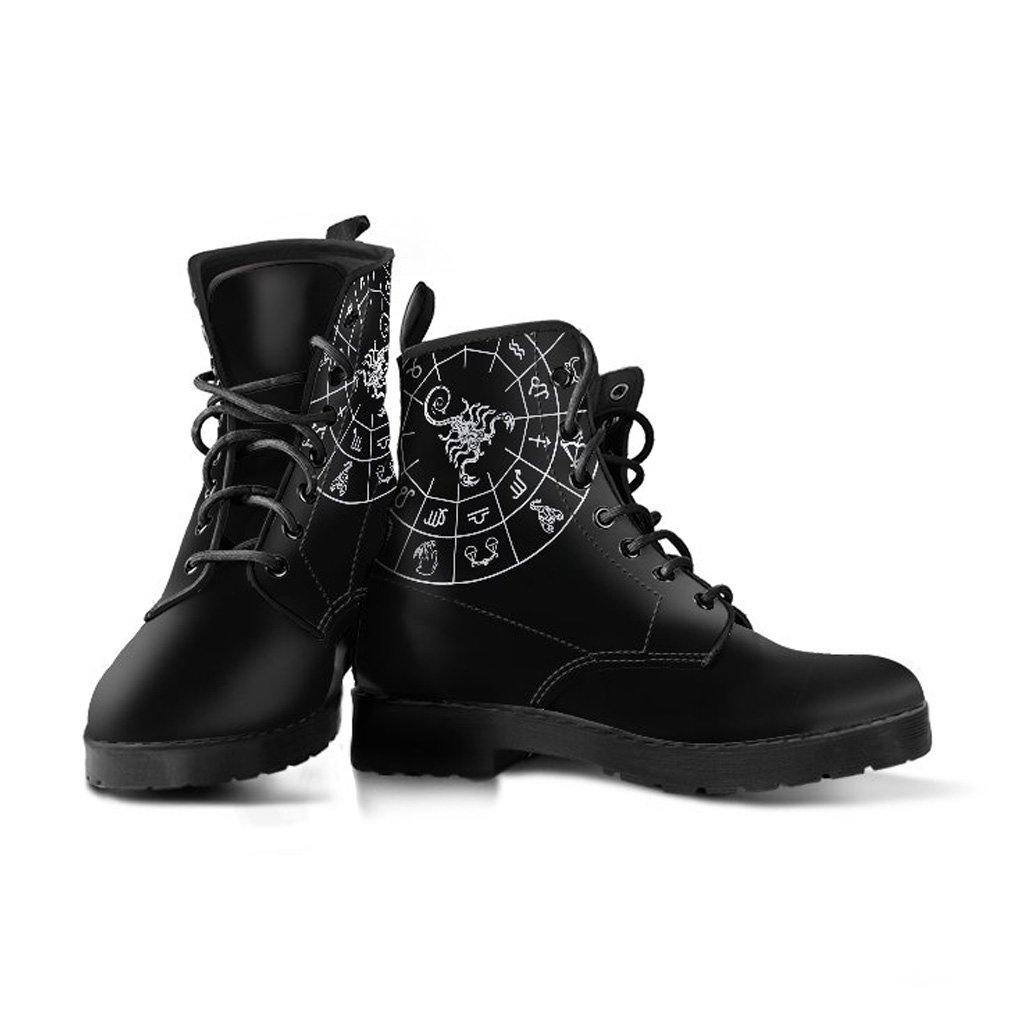Scorpio Zodiac Vegan Leather Boots