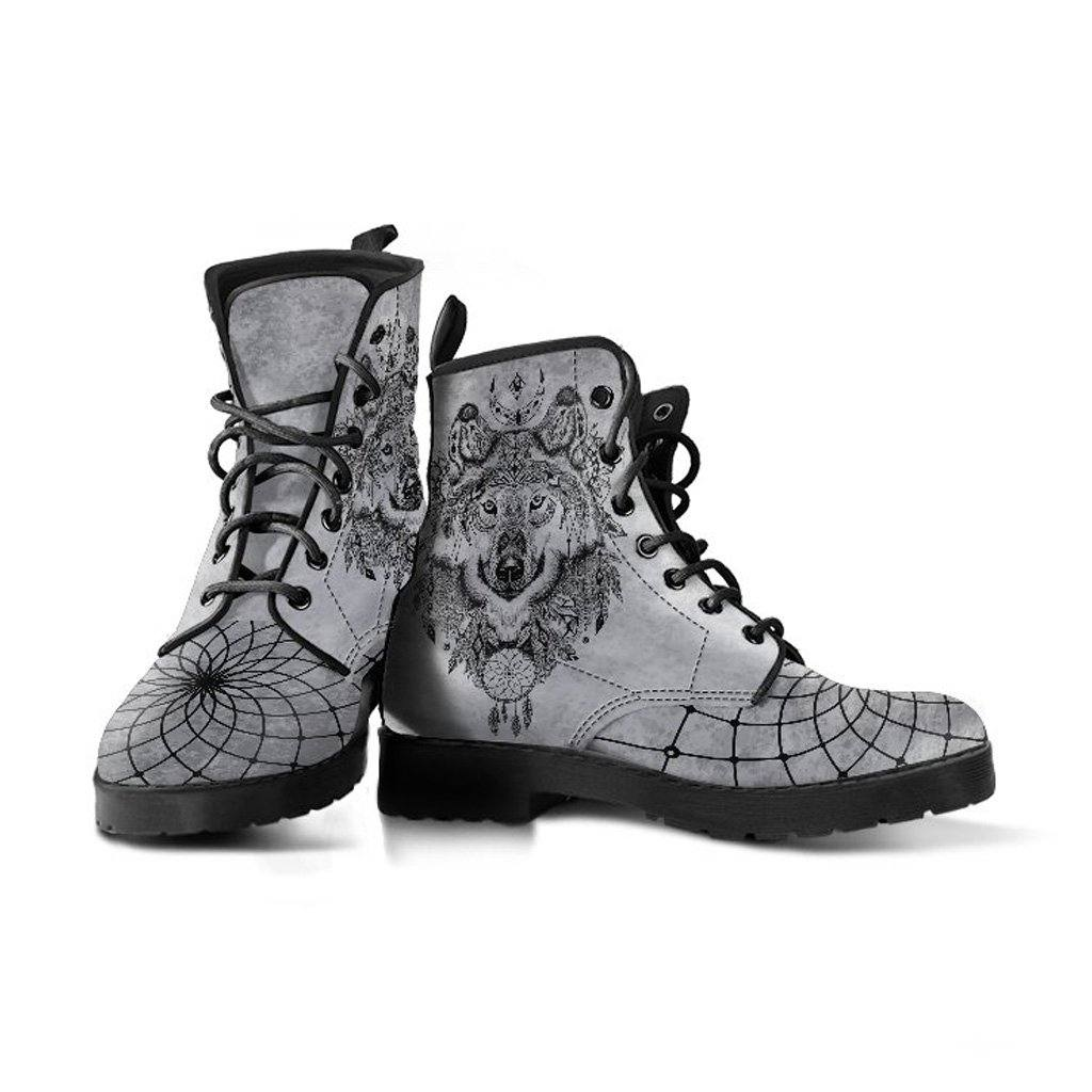 Silver Wolf Dreamcatcher Vegan Leather Boots