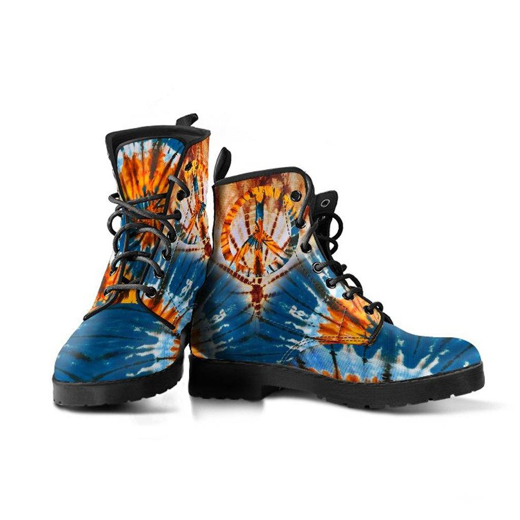 Tie Dye Peace Vegan Leather Boots