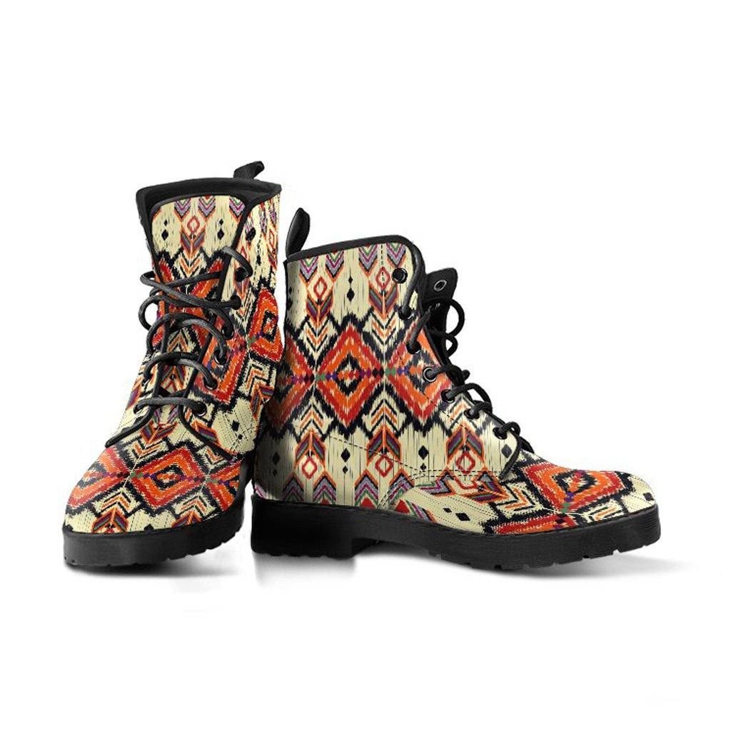 Tribal Desert Pattern Vegan Leather Boots