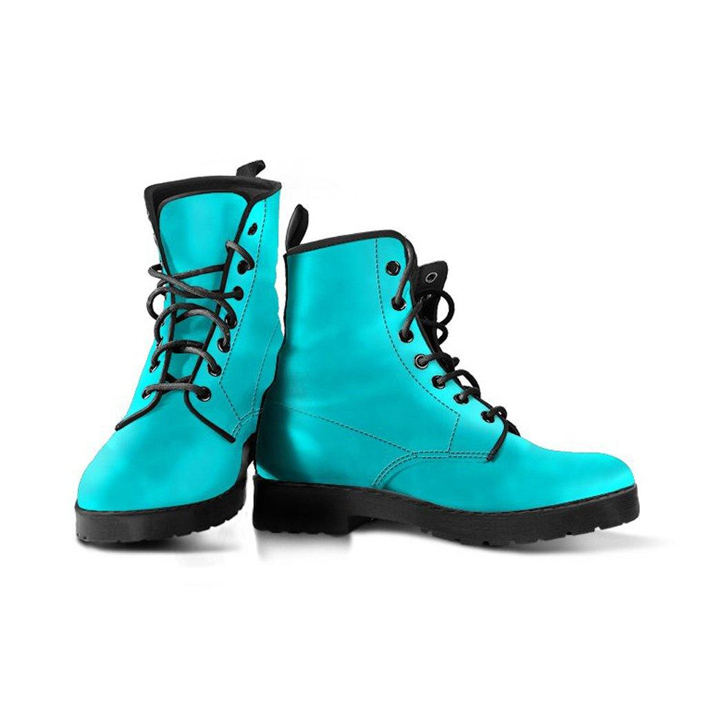 Turquoise Vegan Leather Boots - Manifestie
