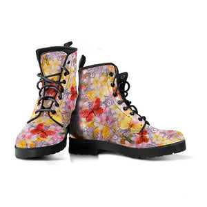 Watercolor Butterfly Vegan Leather Boots