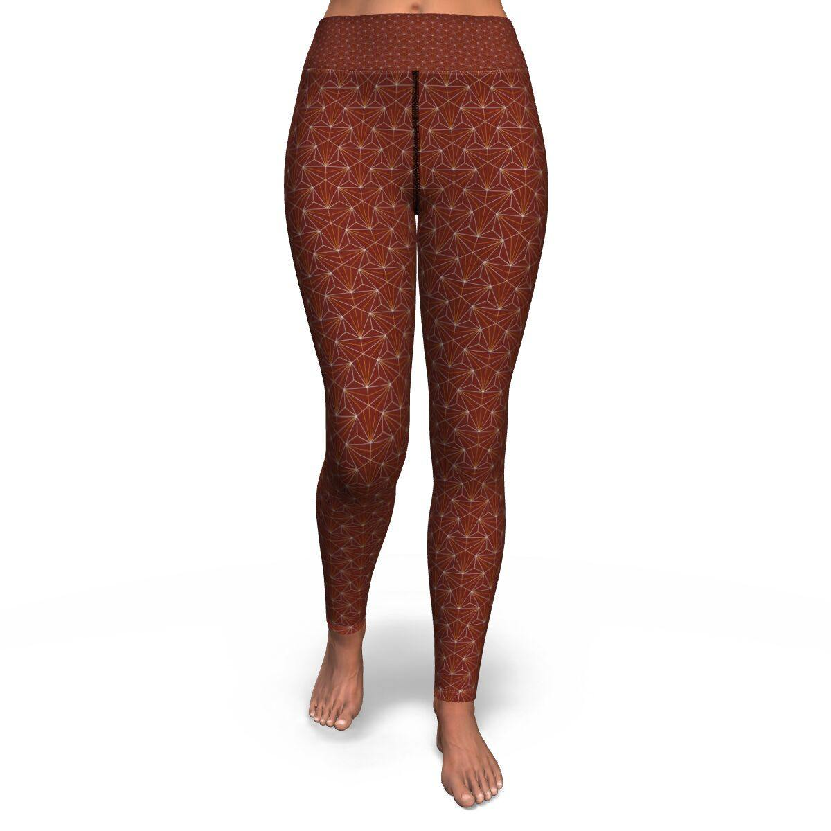 Terra Cotta Sacred Connections Premium Yoga Leggings - Manifestie