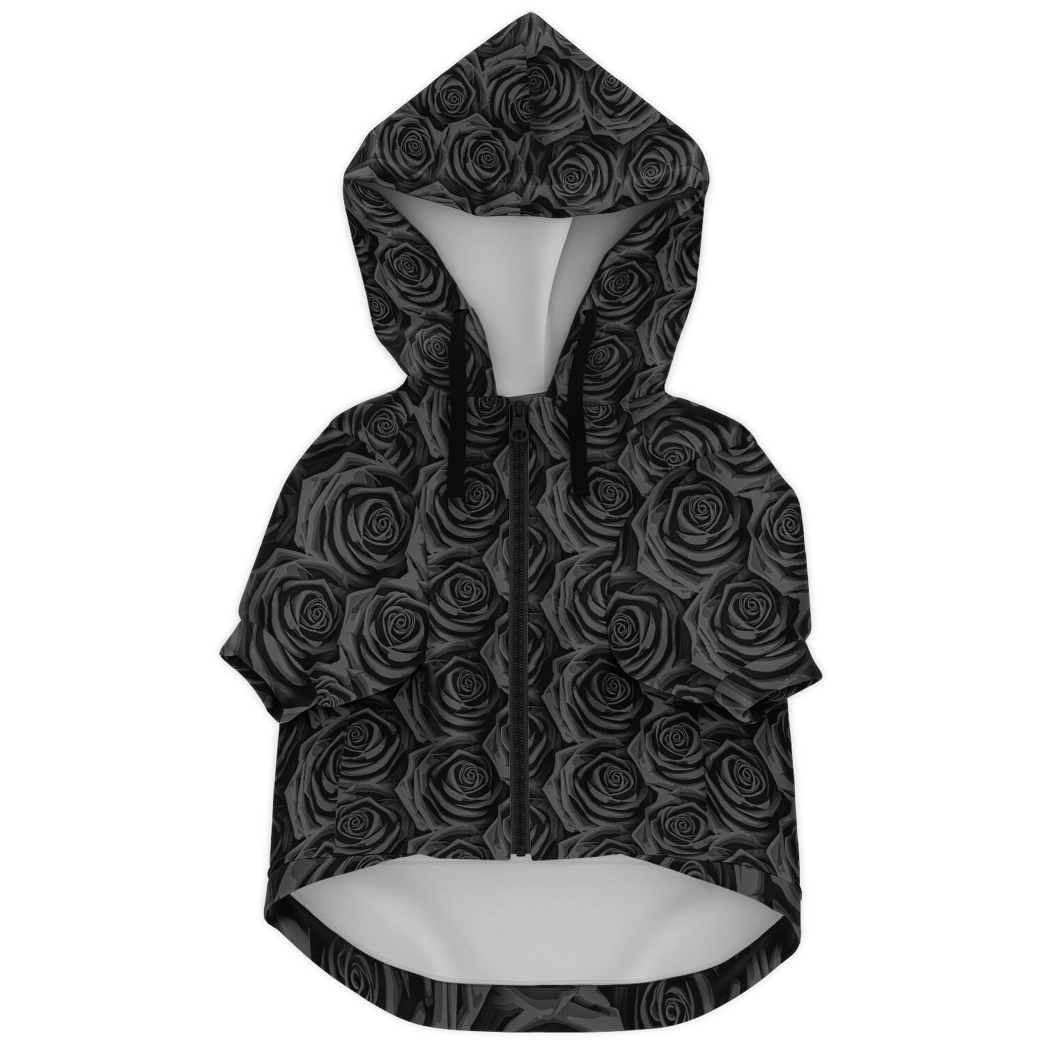 BLACK ROSES PREMIUM DOG ZIP UP HOODIE - Manifestie