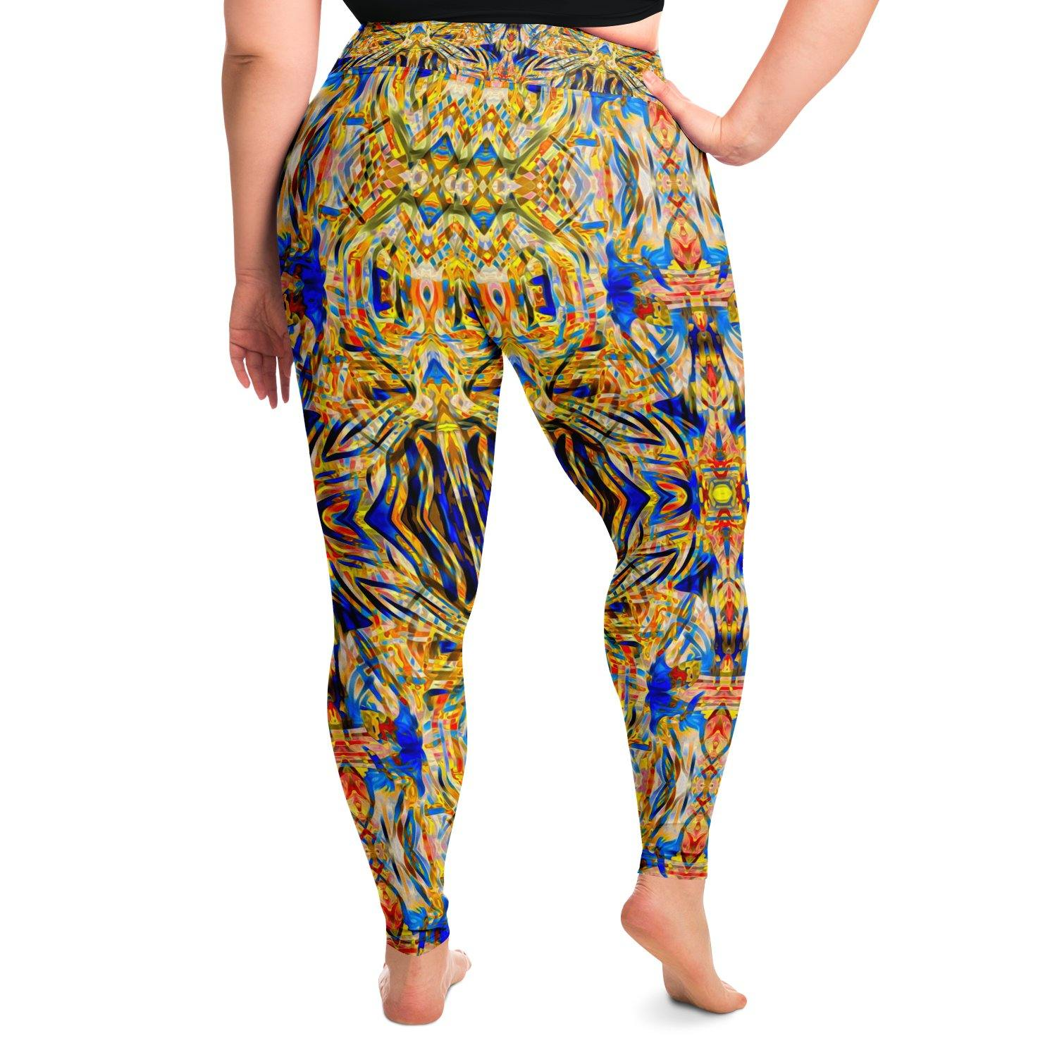 Star Chaser Premium Plus Size Yoga Leggings - Manifestie