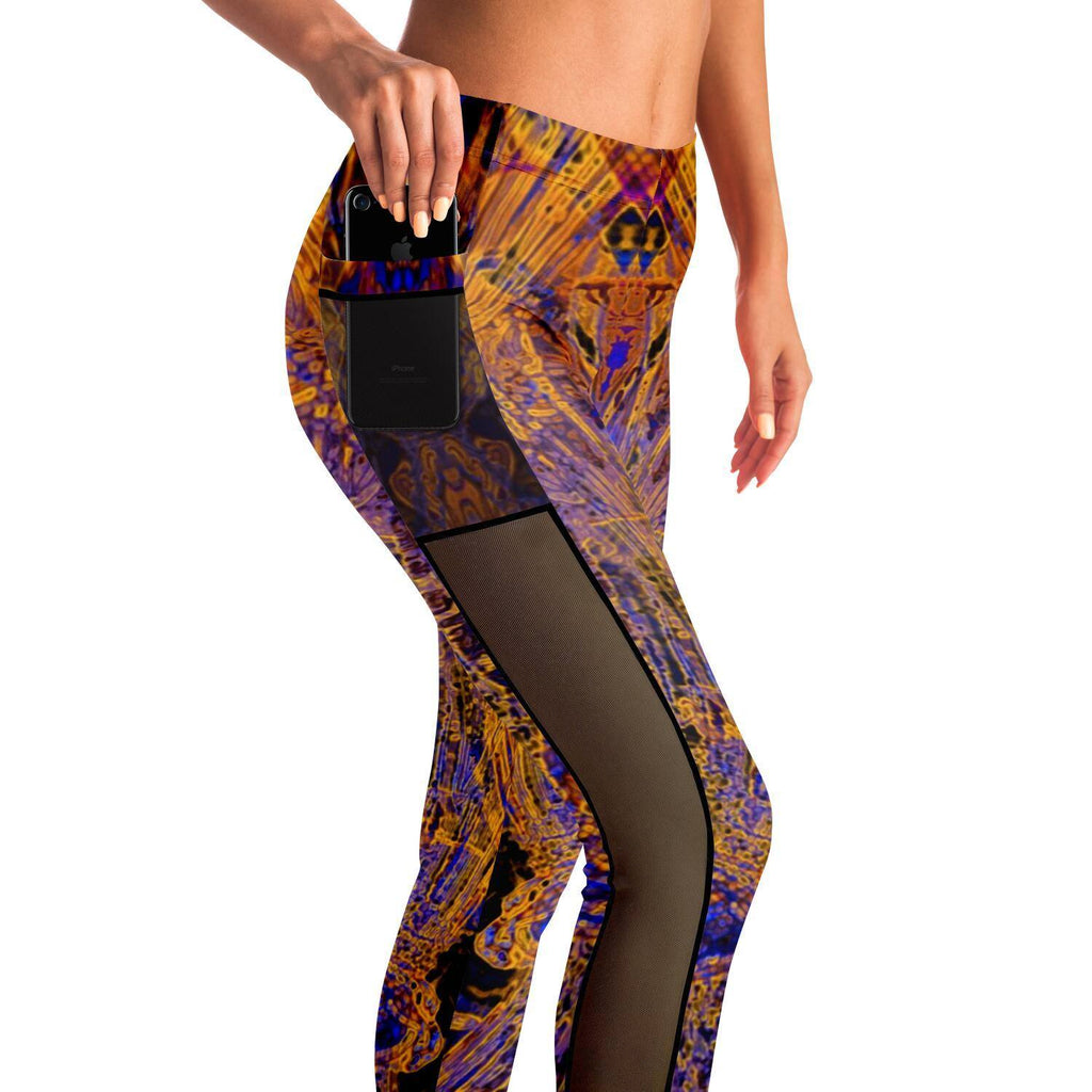 ROYAL JELLY PREMIUM MESH POCKET YOGA LEGGINGS