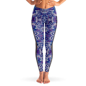 SPIDER QUEEN PREMIUM MESH POCKET YOGA LEGGINGS