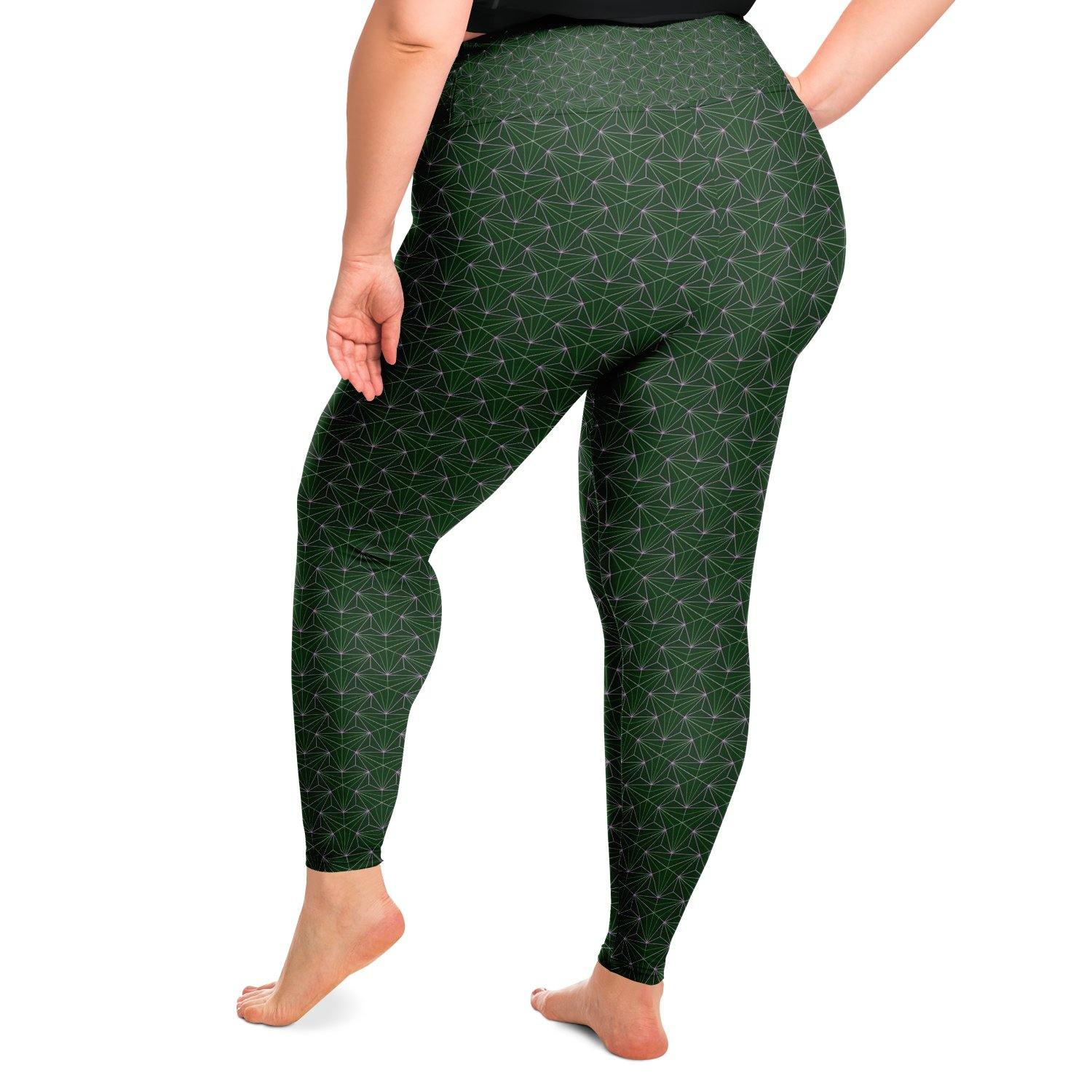 Jade Sacred Connections Premium Plus Size Yoga Leggings - Manifestie