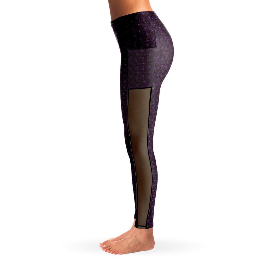 AMETHYST PREMIUM MESH POCKET YOGA LEGGINGS