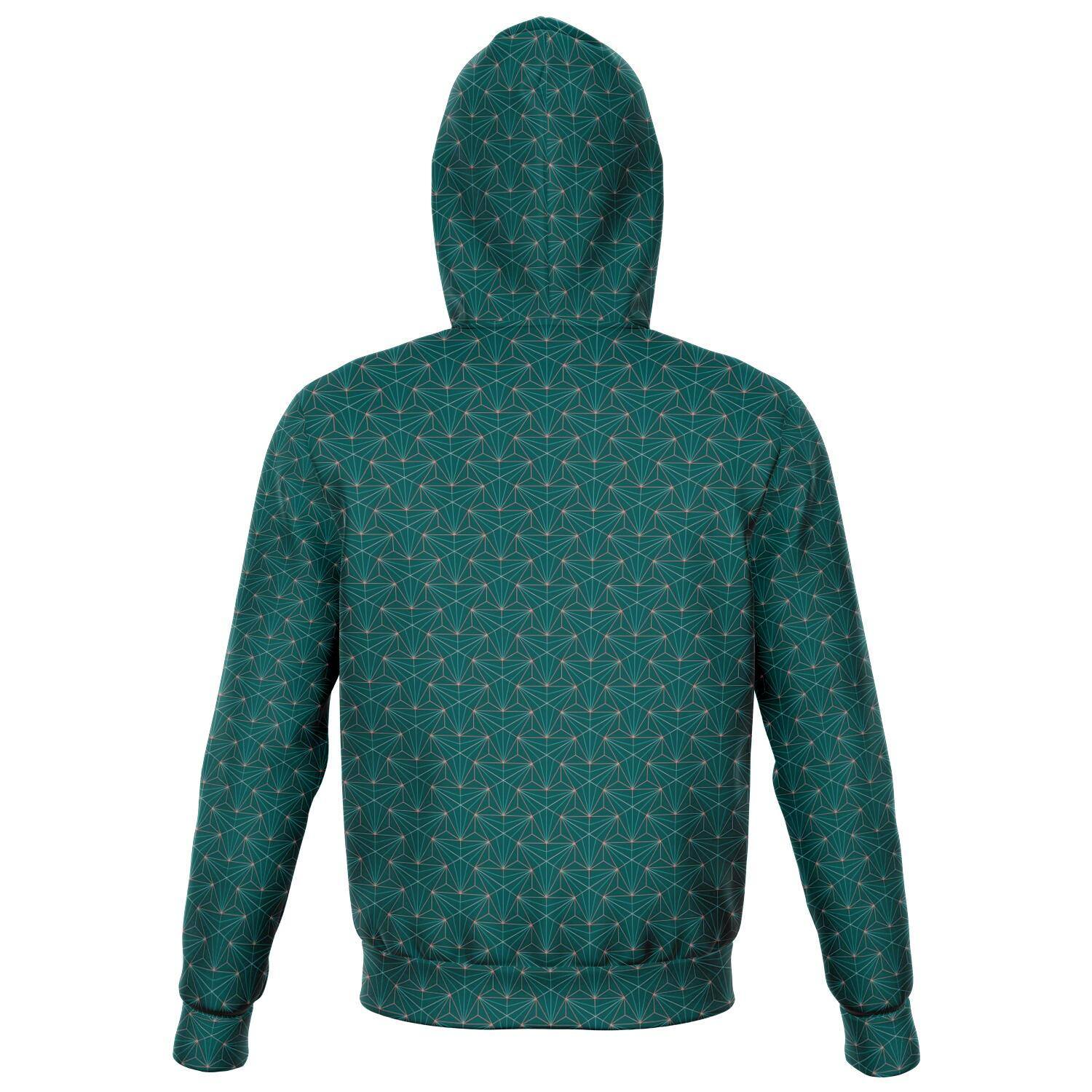 TURQUOISE SACRED CONNECTIONS PREMIUM ZIP UP HOODIE