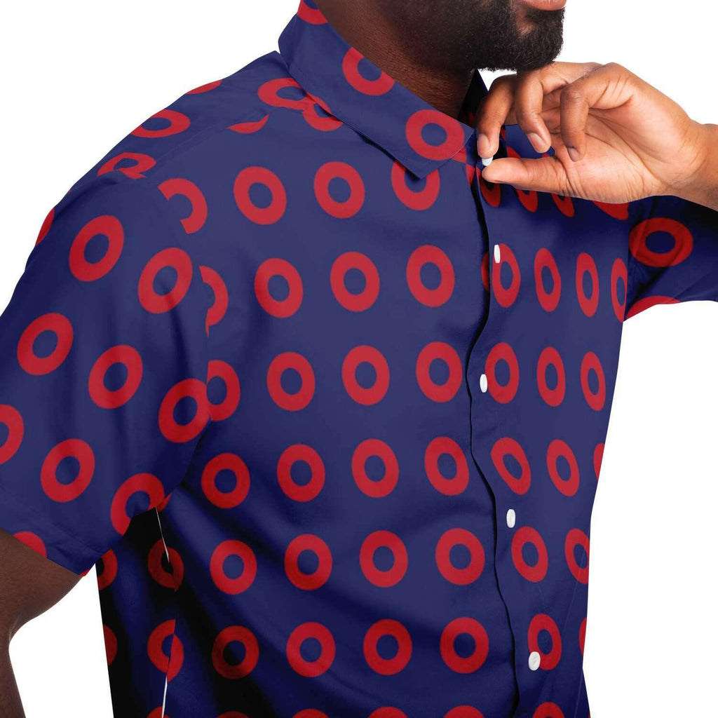 Fishman Donuts Short Sleeve Button Down Shirt | Phish Band - Manifestie