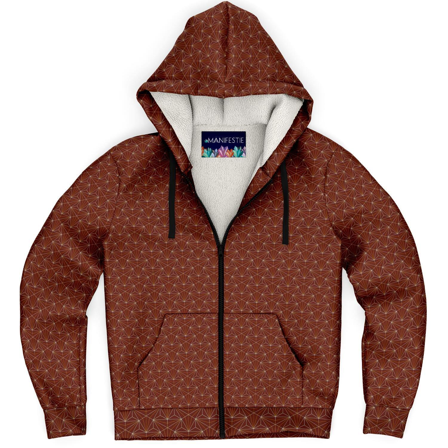 Terra Cotta Sacred Connections Premium Sherpa Lined Zip Hoodie