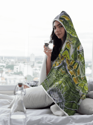 Cosmic Slither Hooded Blanket
