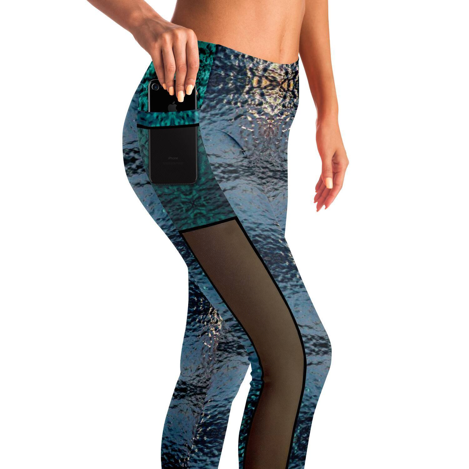 MICRODOT PREMIUM MESH POCKET YOGA LEGGINGS