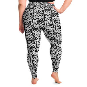 Flower of Life Premium Plus Size Yoga Leggings