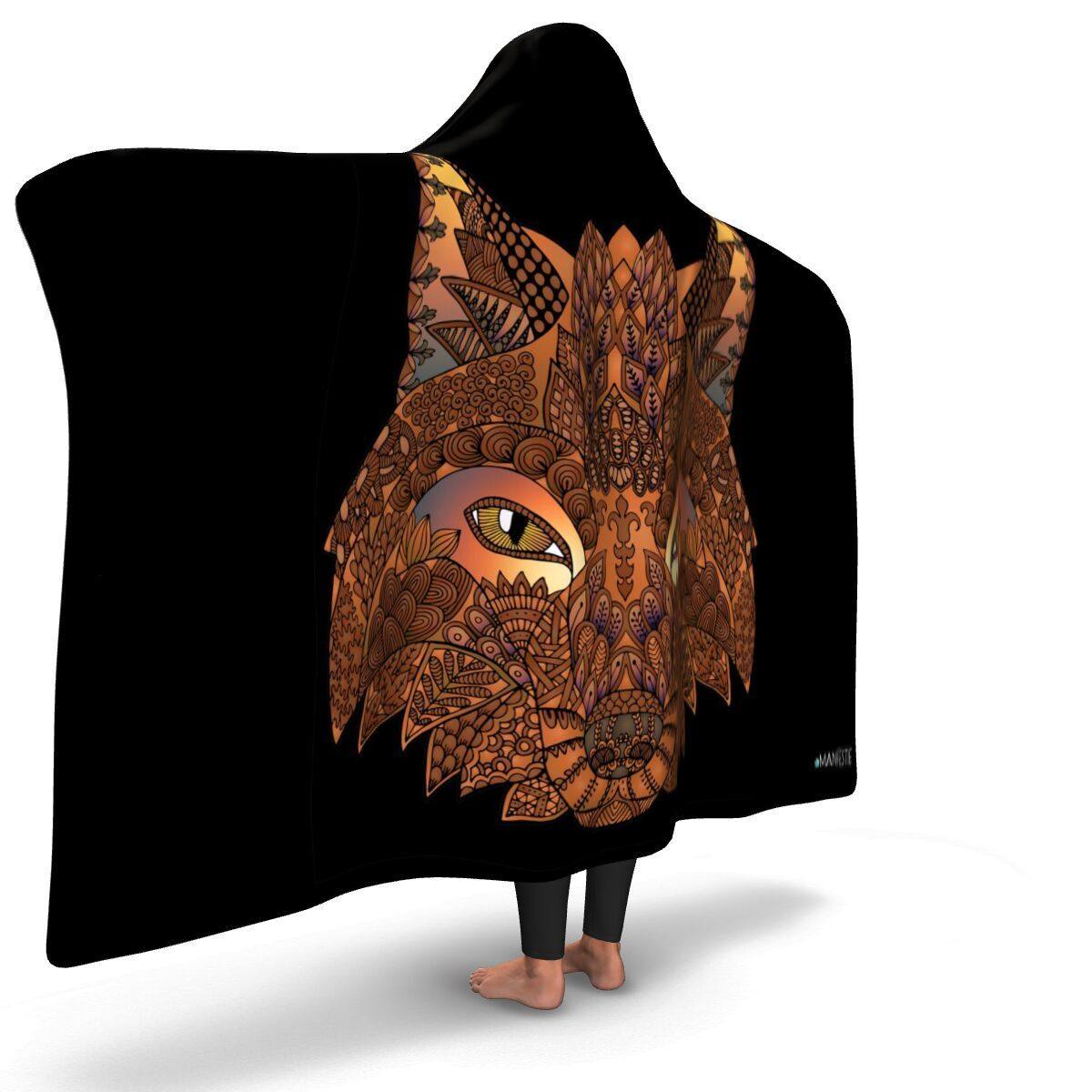 SACRED FOX PREMIUM HOODED BLANKET with Wrist Straps