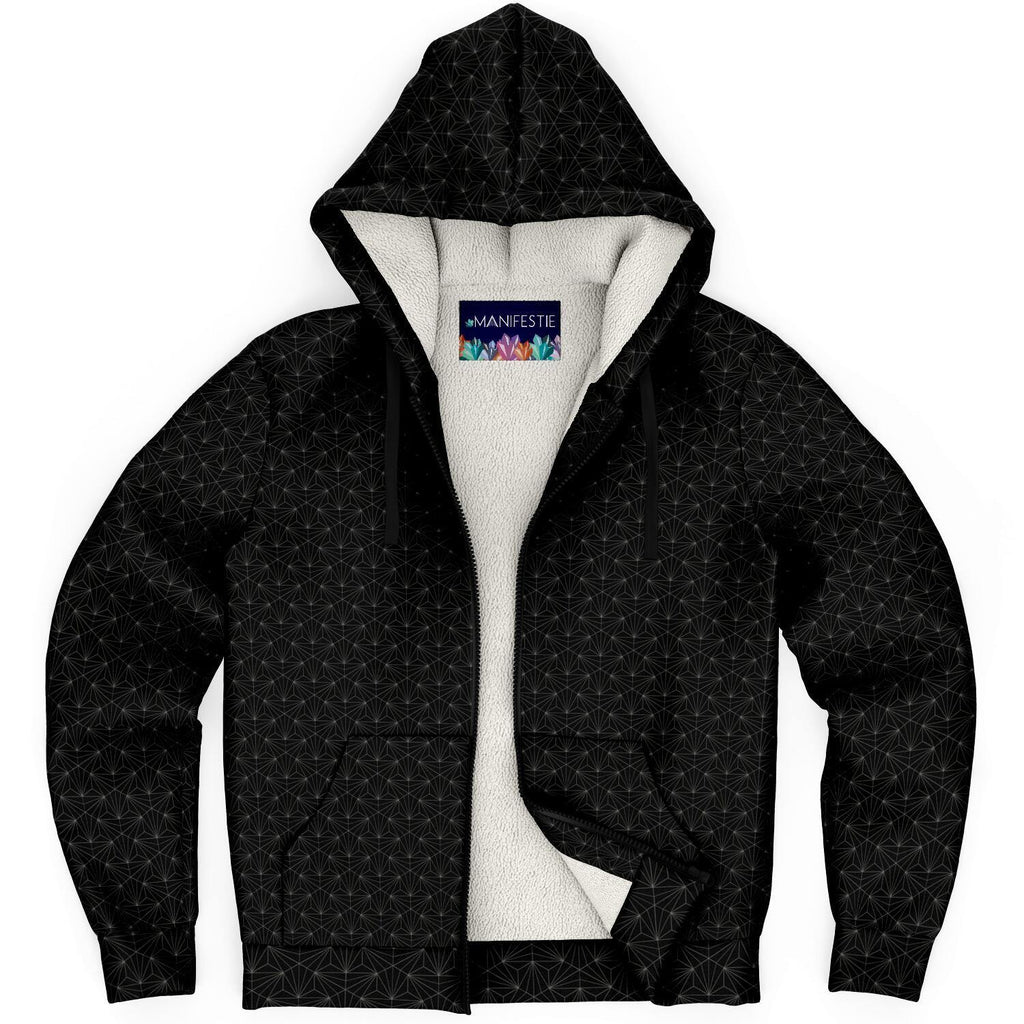 Onyx Sacred Connections Premium Sherpa Lined Zip Hoodie - Manifestie