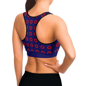 Fishman Donuts Sports Bra | Phish Band | Black Trim