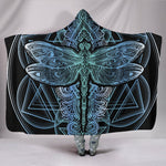 Blue Dragonfly Mandala Hooded Blanket - Manifestie
