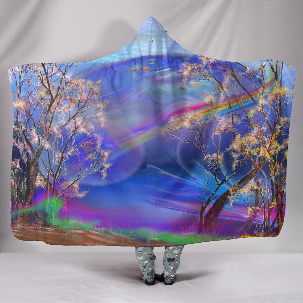 Surreal Night Hooded Blanket