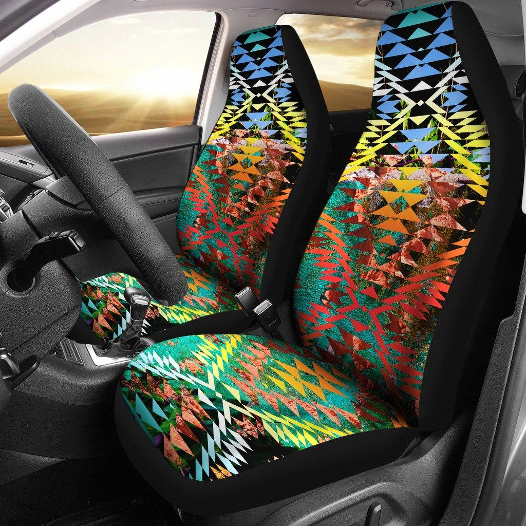 Taos Sunset Camo Set of 2 Car Seat Covers