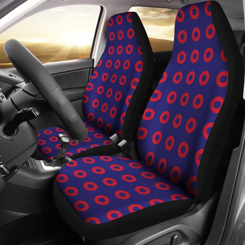 Phish Car Seat Covers | Fishman Donuts | Set of 2