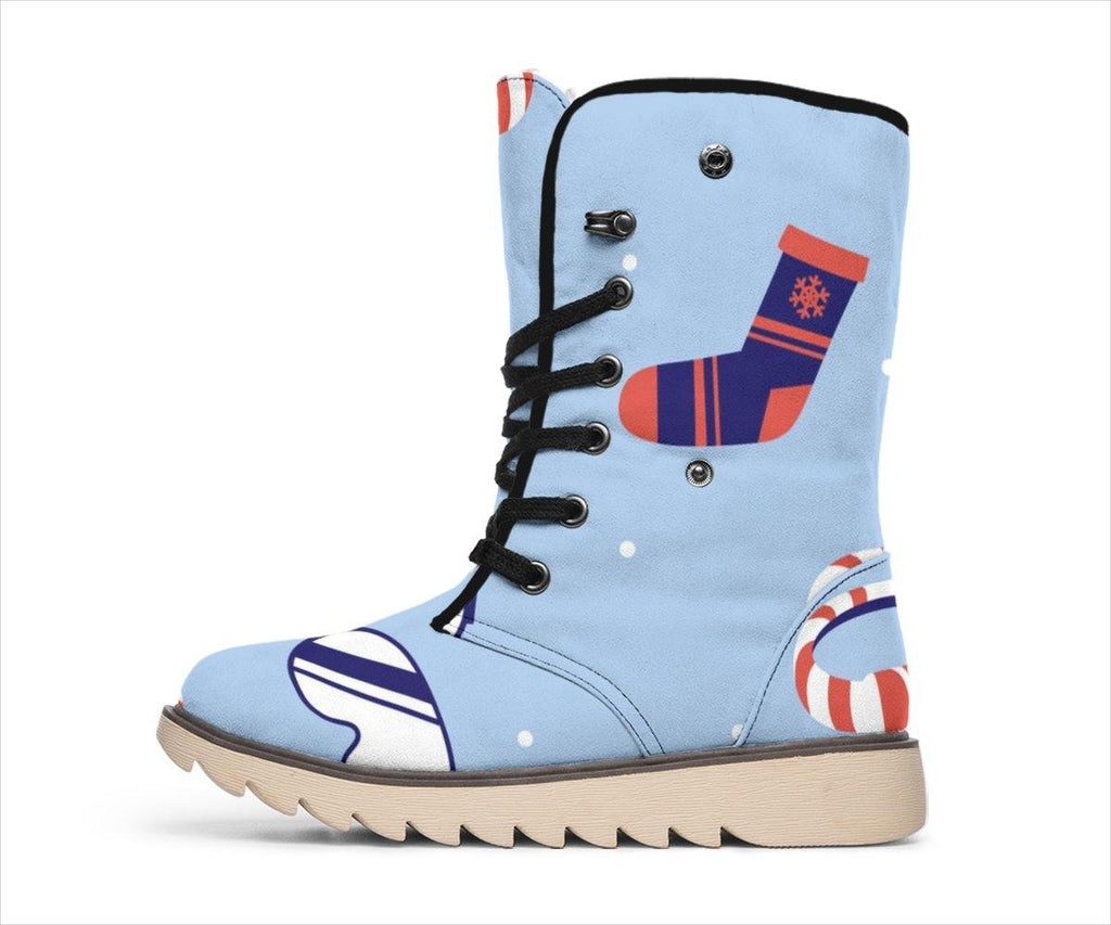 Blue Winter Celebration Boots