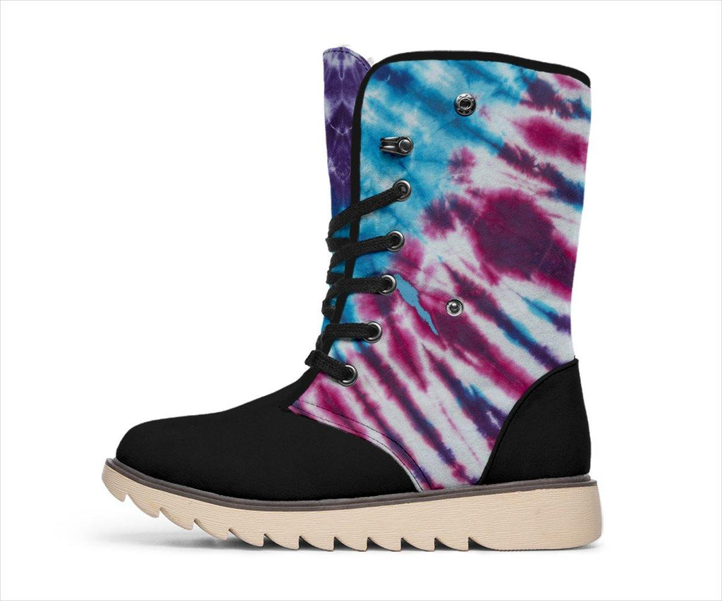 Boho Blues Tie Dye Women's Polar Boots