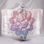 Mandala Paisley Lotus Flower Hooded Blanket