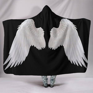 White Angel Wings Hooded Blanket