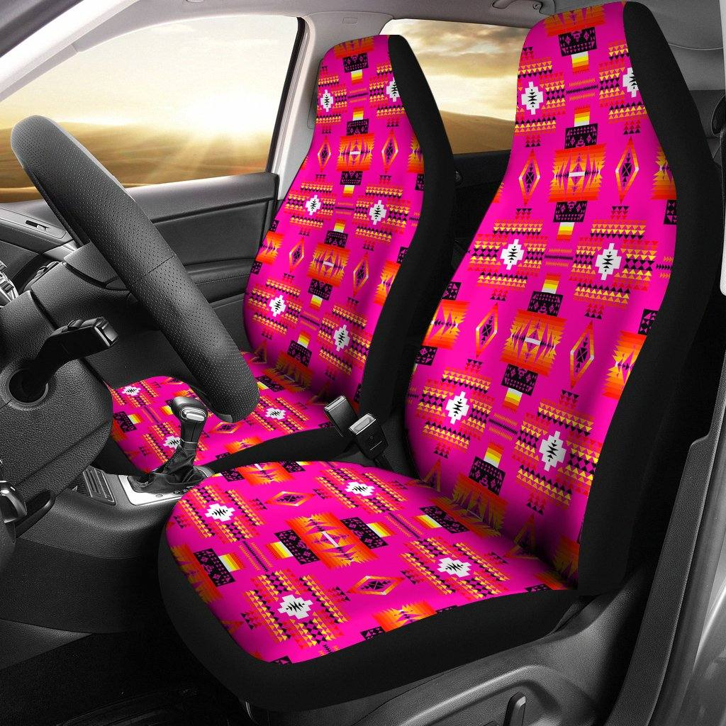 Seven Tribes Pink Car Seat Covers