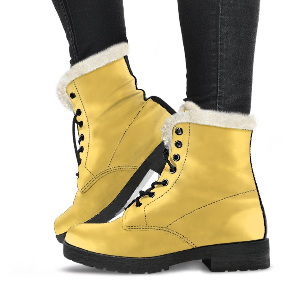 Aspen Gold Vegan Leather Boots with Faux Fur Lining