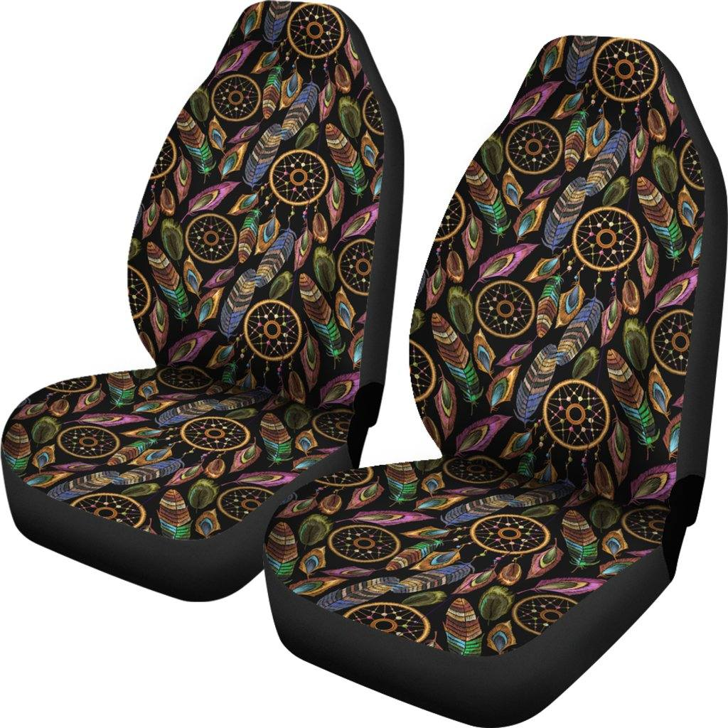 Boho Tribal Dream Catcher Feathers Car Seat Covers