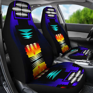 Midnight Sage Fire Set of 2 Car Seat Covers