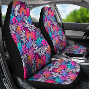 Boho Tropical Leaves Car Seat Covers