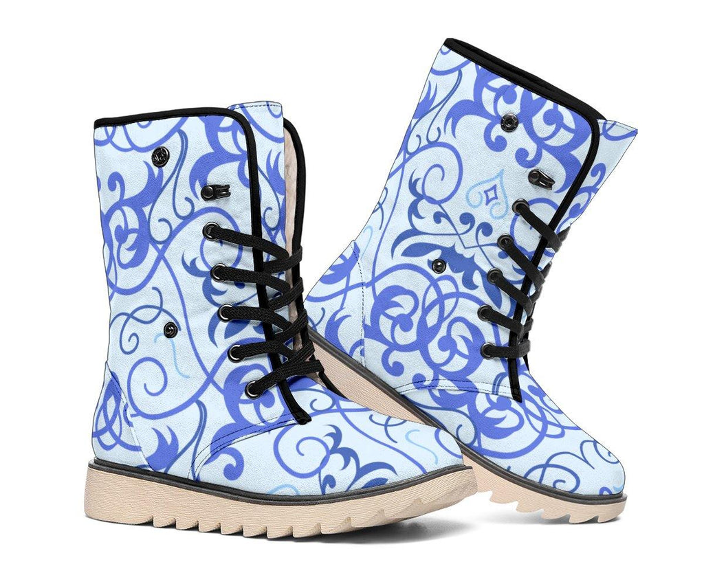 Blue Swirls Polar Boots