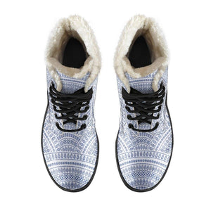 Silver Arches Vegan Leather Boots with Faux Fur Lining