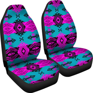 Sovereign Teal and Pink Set of 2 Car Seat Covers