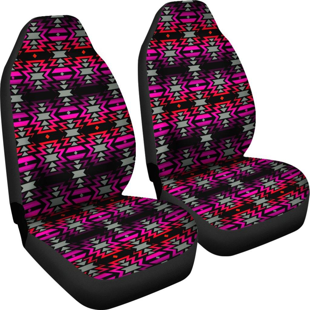Black Fire Pink Car Seat Covers